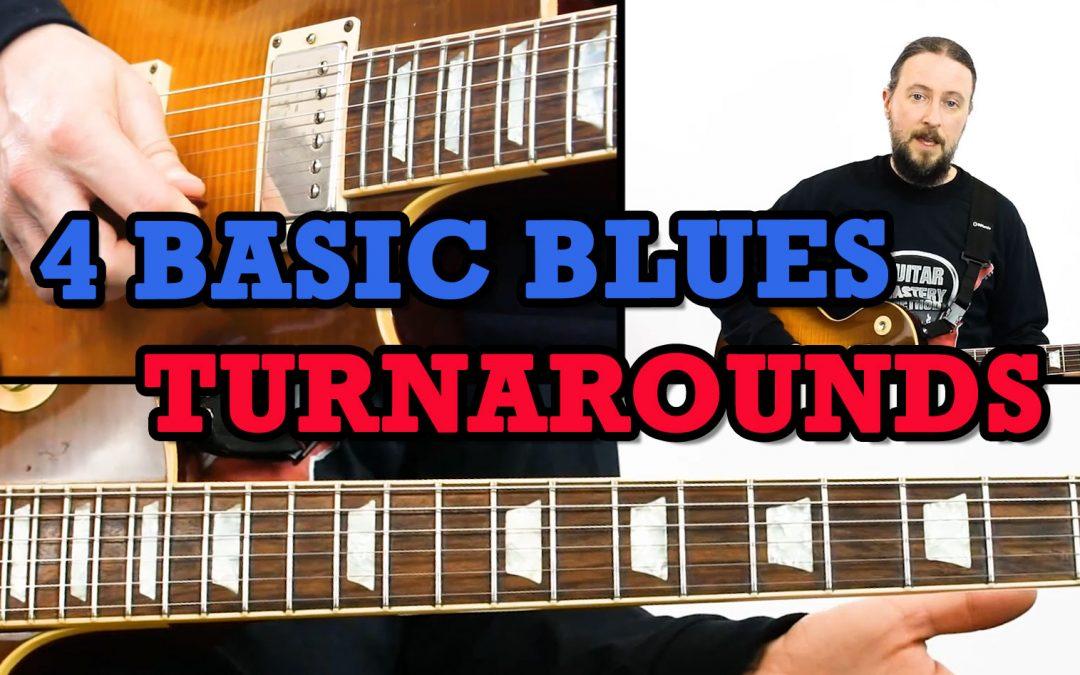 4 Basic Blues Turnarounds