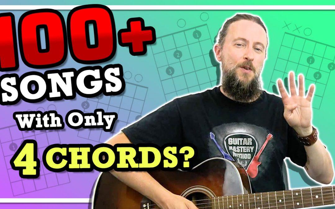 Easy Guitar Songs For Beginners Using 4 Chords