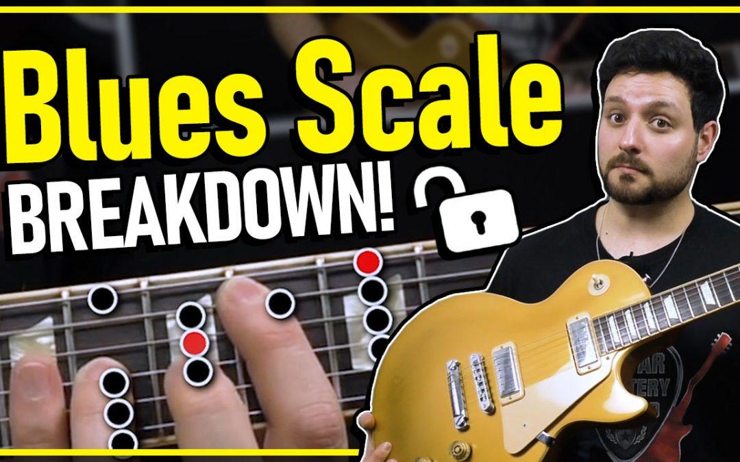 Blues Scale In A – Guitar Lesson Breakdown!