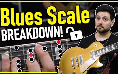 Blues Scale In A – Guitar Lesson Breakdown!