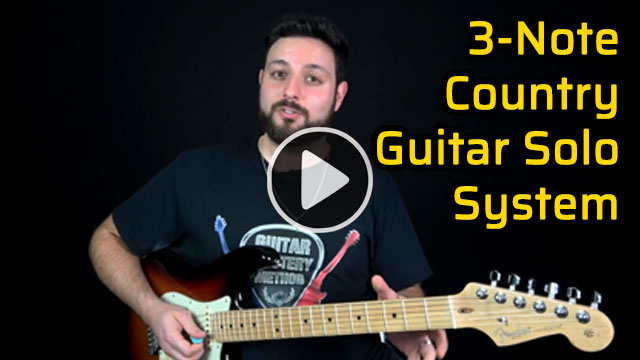3 Note Country Guitar Solo System